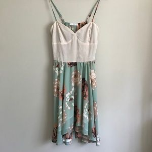 Potter's Pot // Mint & Cream Floral Dress
